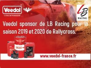 Veedol sponsor de LB Racing pour la saison  Rallycross 2019